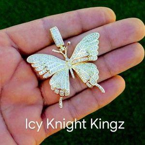 """24""""Rope Chain + 14K Gold Finish Butterfly"""